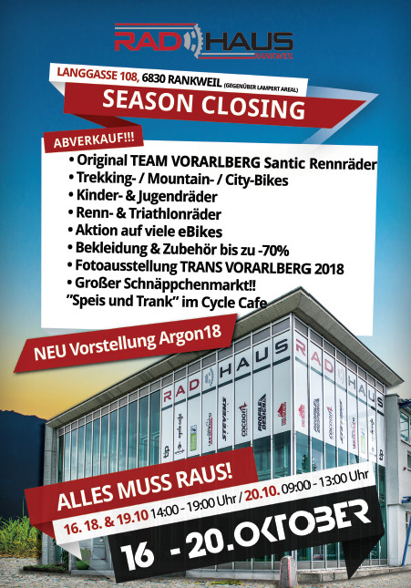 Season Closing RadHaus Rankweil 2019